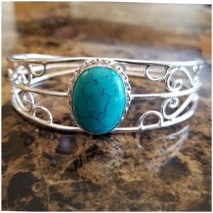 Jewelry - Turquoise Bangle. 3 inch Width